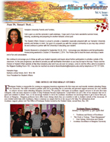Student Affairs Parent Newsletter